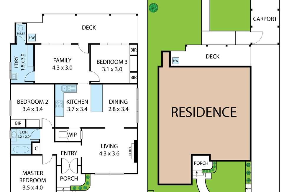 Floorplan of Homely house listing, 37 Bayne Street, North Bendigo VIC 3550