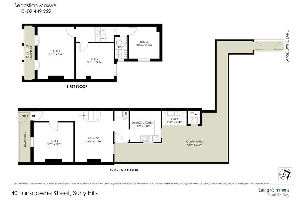 Floorplan of Homely house listing, 40 Lansdowne Street, Surry Hills NSW 2010