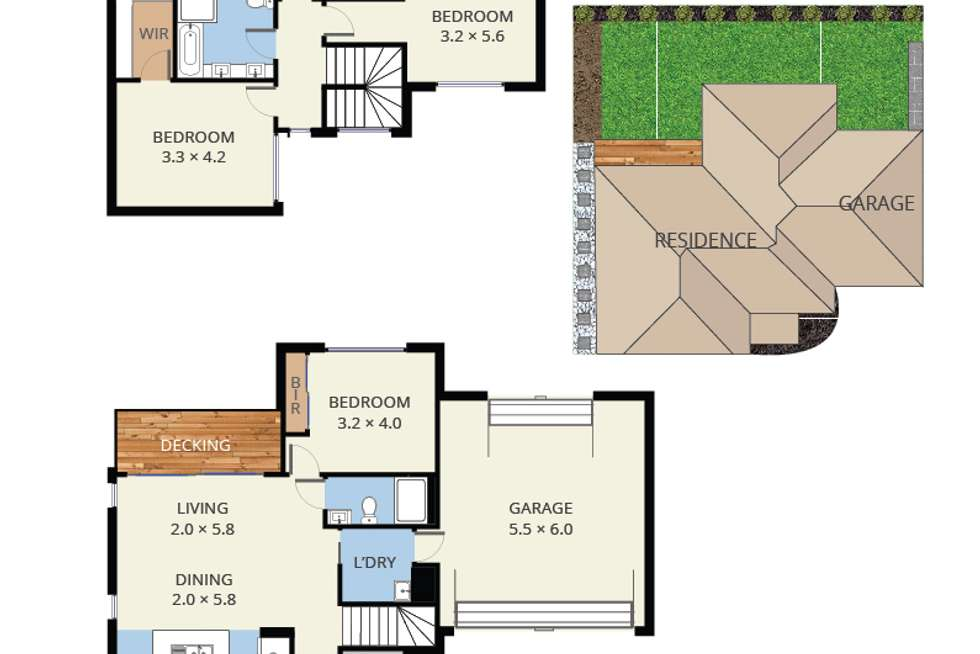 Floorplan of Homely house listing, 2/6 Elaroo Street, Chadstone VIC 3148