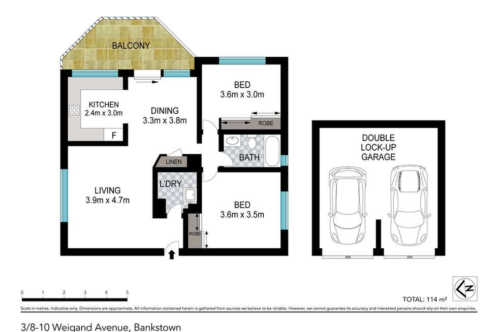 Floorplan of Homely unit listing, 3/8 Weigand Avenue, Bankstown NSW 2200