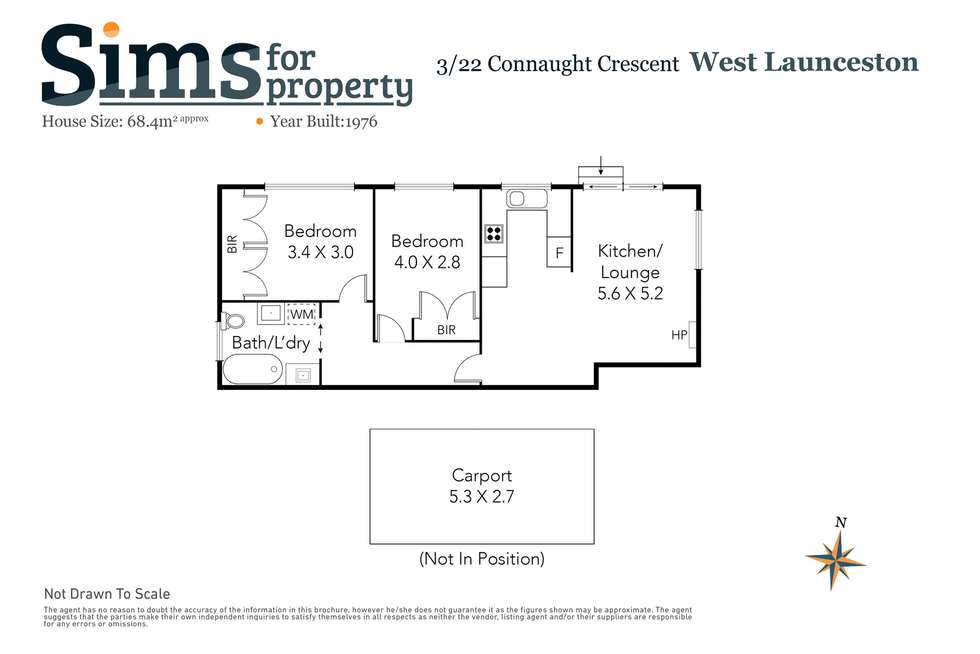 Floorplan of Homely unit listing, 3/22 Connaught Crescent, West Launceston TAS 7250