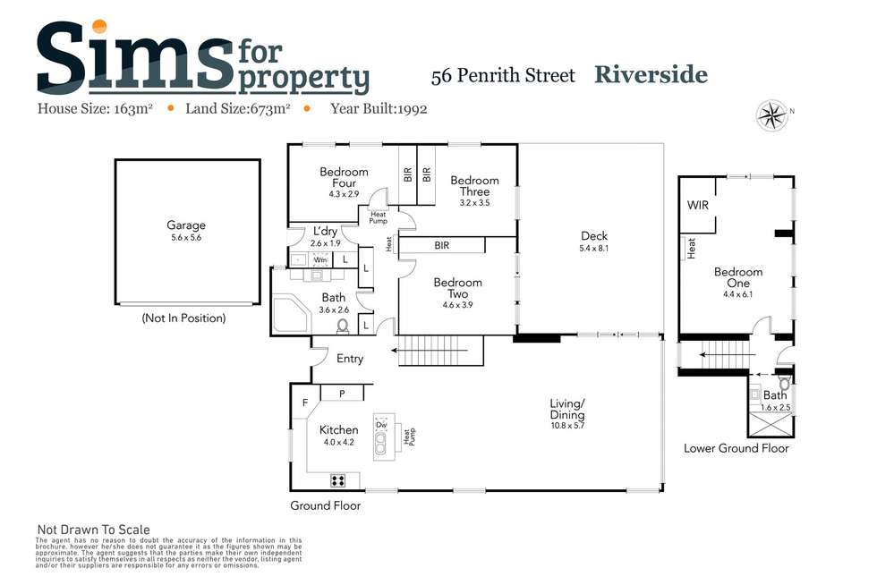 Floorplan of Homely house listing, 56 Penrith Street, Riverside TAS 7250