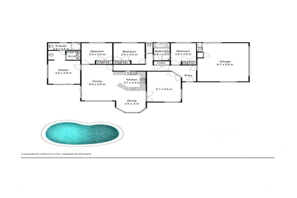 Floorplan of Homely house listing, 2 Sirec Way, Burleigh Heads QLD 4220