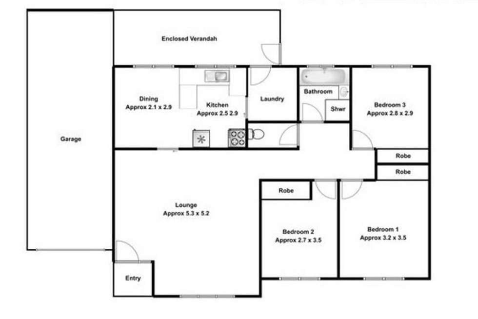Floorplan of Homely house listing, 57 Russell Street, Emu Plains NSW 2750