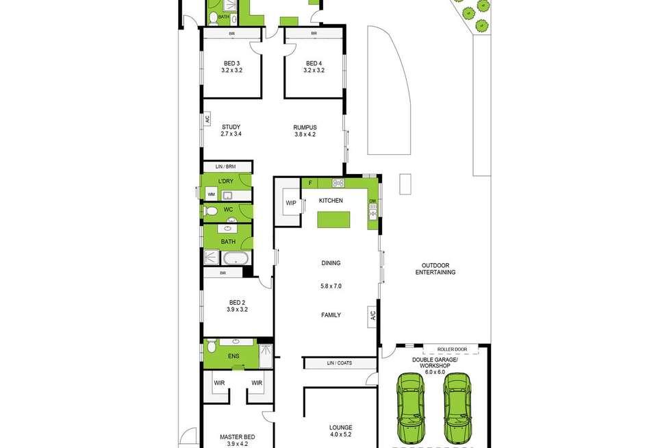 Floorplan of Homely house listing, 4 Crake Court, Lara VIC 3212
