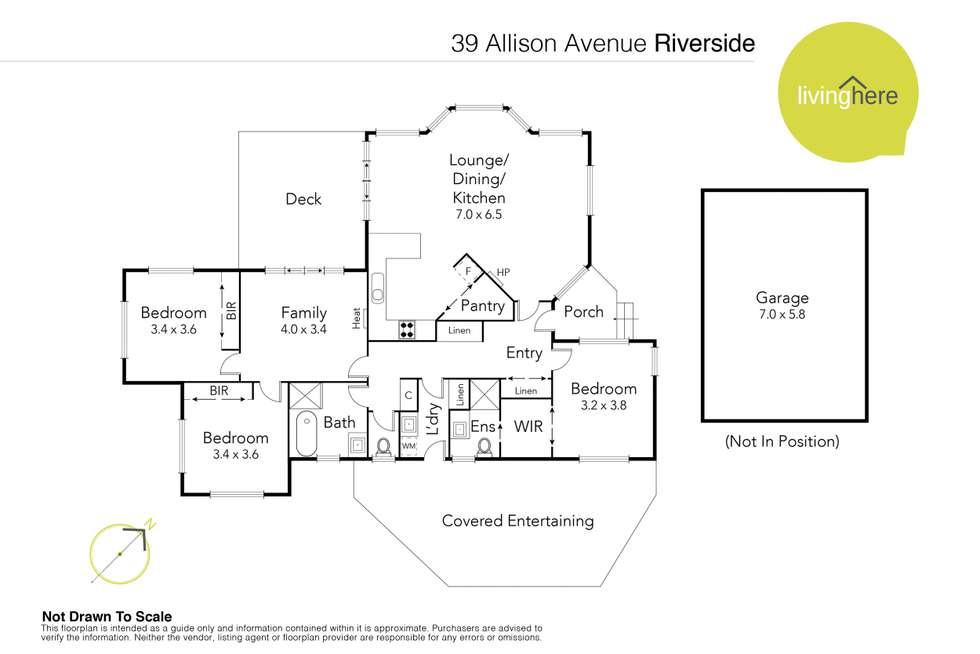 Floorplan of Homely house listing, 39 Allison Avenue, Riverside TAS 7250