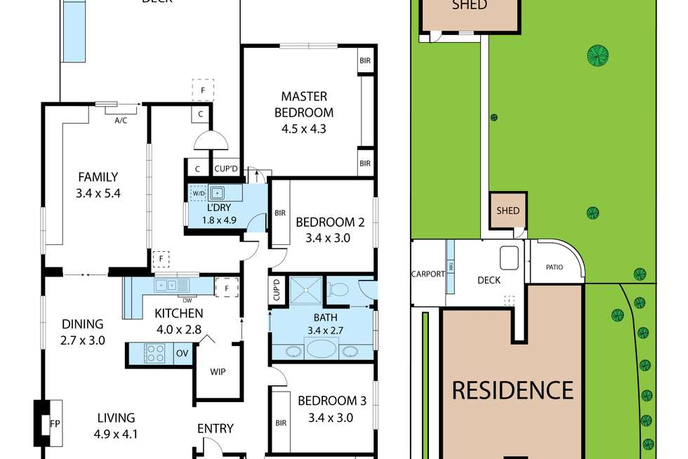 Floorplan of Homely house listing, 8 Murray Road, Newborough VIC 3825
