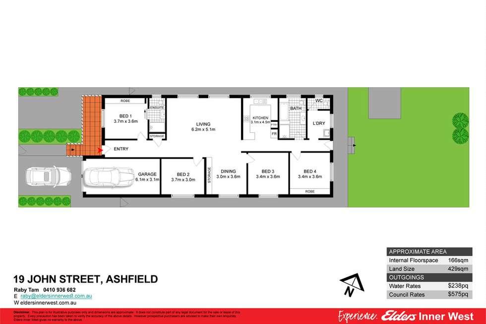 Floorplan of Homely house listing, 19 John Street, Ashfield NSW 2131