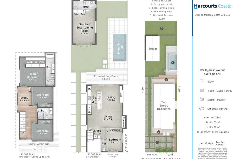 Floorplan of Homely house listing, 222 Cypress Terrace, Palm Beach QLD 4221