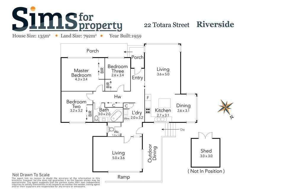 Floorplan of Homely house listing, 22 Totara Street, Riverside TAS 7250