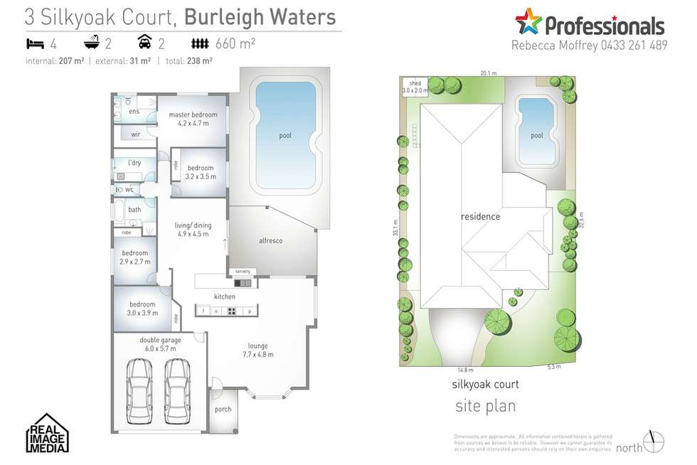 Floorplan of Homely house listing, 3 Silkyoak Court, Burleigh Waters QLD 4220