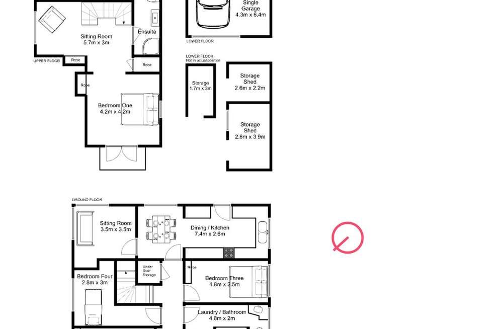 Floorplan of Homely house listing, 45 Laura St, West Launceston TAS 7250
