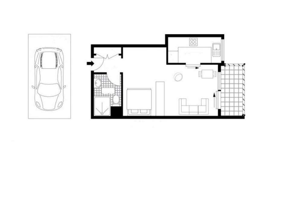 Floorplan of Homely studio listing, 68/2-6 Brown Street, Newtown NSW 2042