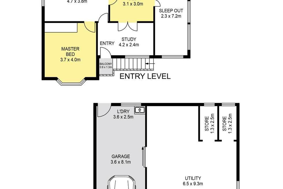 Floorplan of Homely house listing, 47 Greene Street, Newmarket QLD 4051
