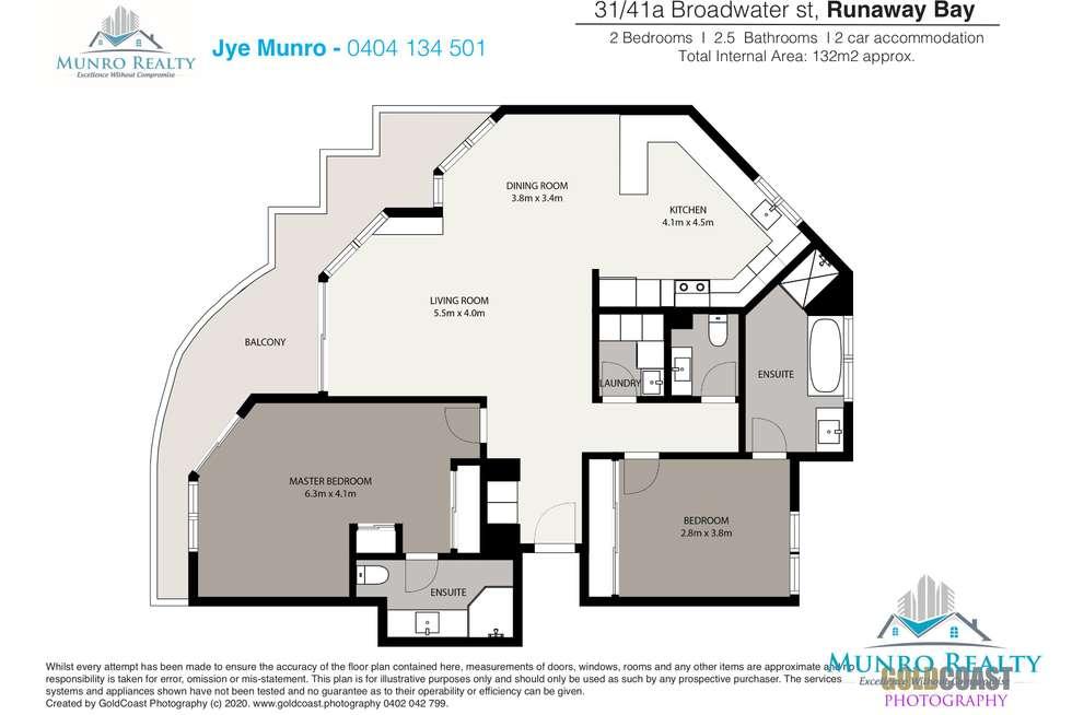Floorplan of Homely unit listing, 31/41A Broadwater Street, Runaway Bay QLD 4216