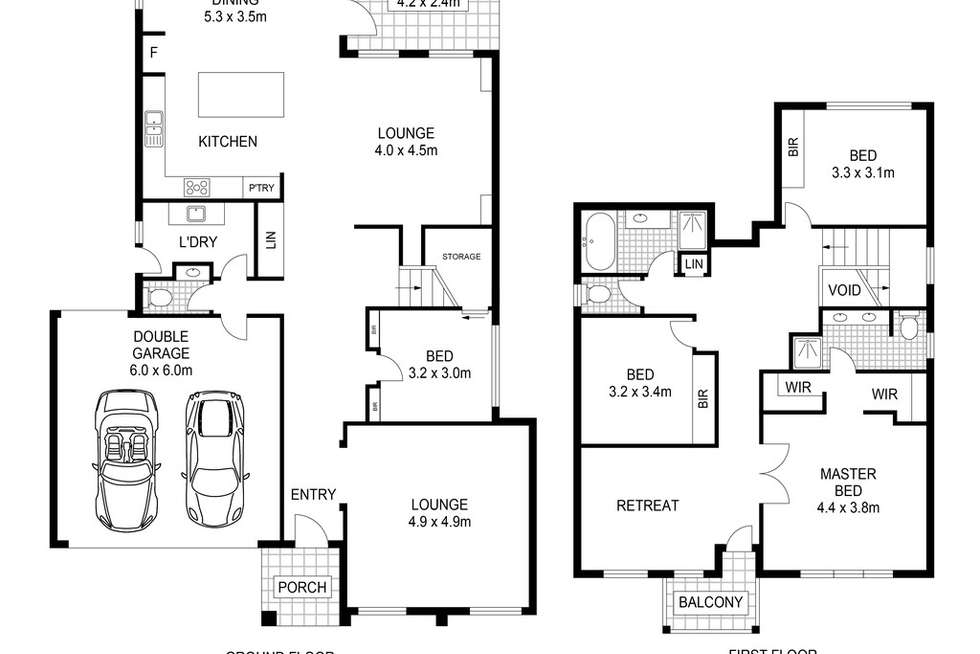 Floorplan of Homely house listing, 12 Fairbairn Way, Caroline Springs VIC 3023