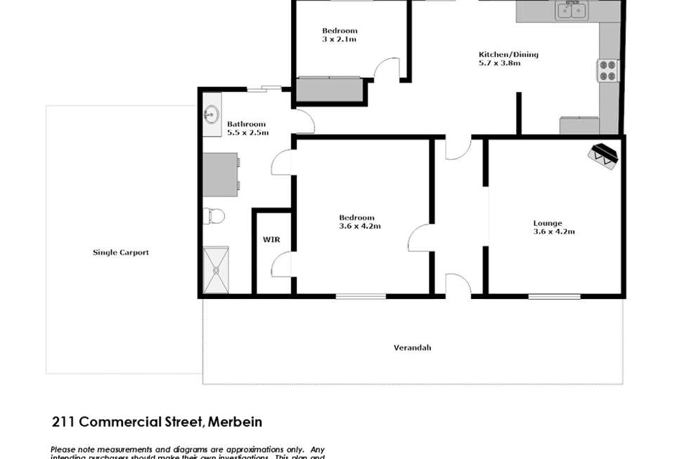 Floorplan of Homely house listing, 211 Commercial Street, Merbein VIC 3505