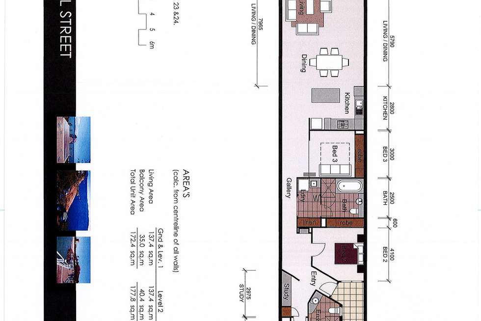 Floorplan of Homely apartment listing, 23/96-98 Mitchell Street, North Ward QLD 4810