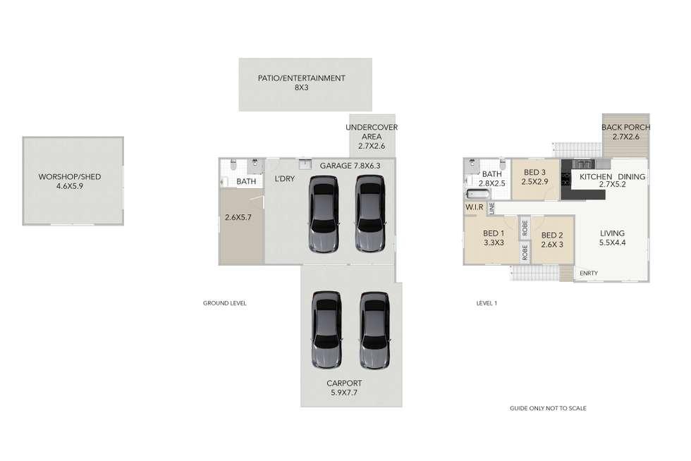 Floorplan of Homely house listing, 1 Madden Street, Silkstone QLD 4304