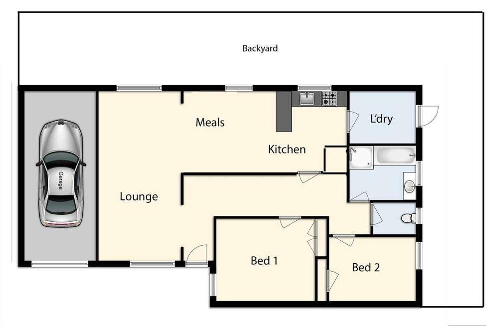 Floorplan of Homely unit listing, 4/18-20 Brunt Street, Cranbourne VIC 3977
