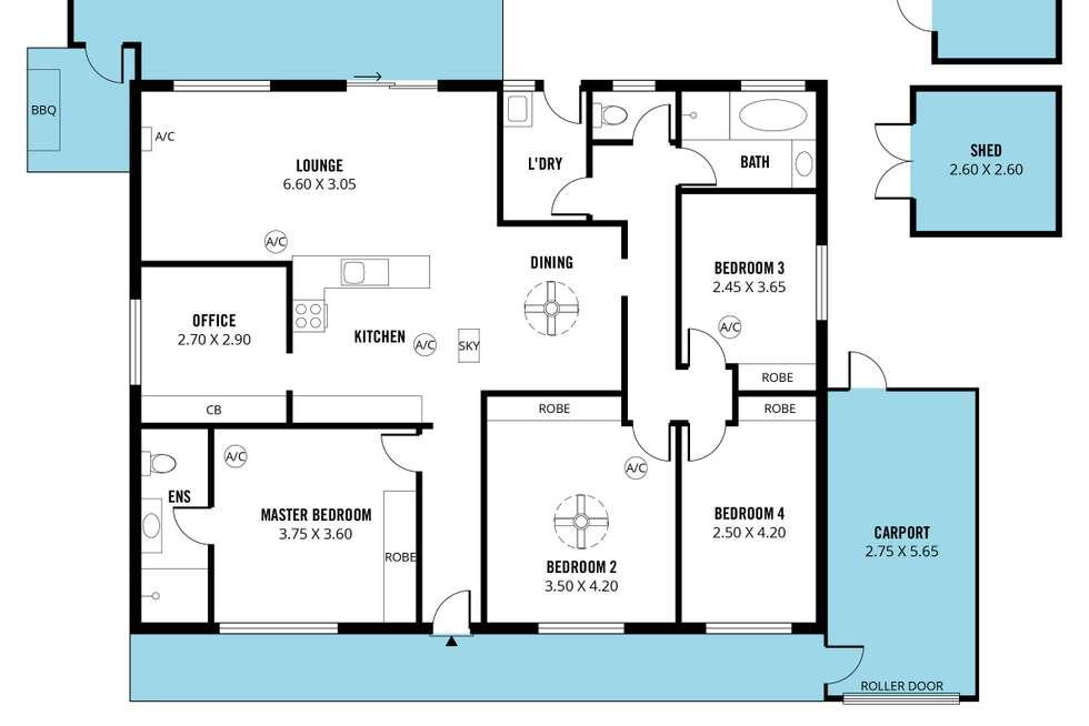 Floorplan of Homely house listing, 182 States Road, Morphett Vale SA 5162