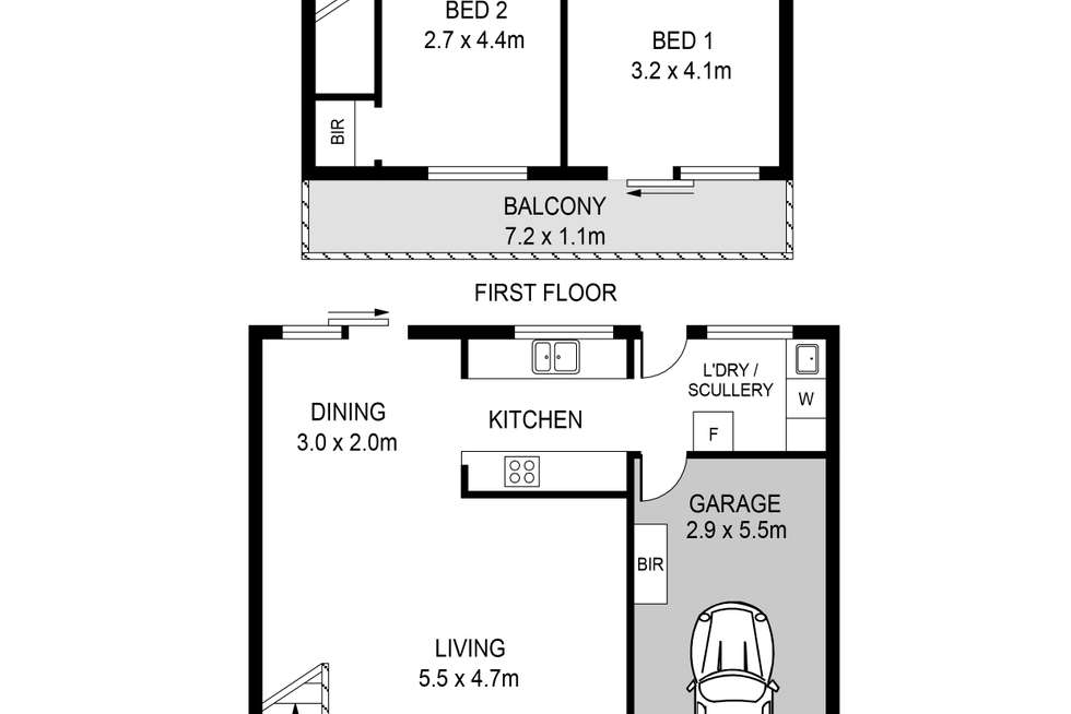 Floorplan of Homely townhouse listing, 6/35 Preston Street, Como WA 6152
