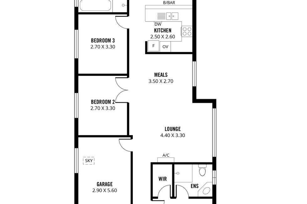 Floorplan of Homely house listing, 34 Carlisle Circuit, Seaford SA 5169