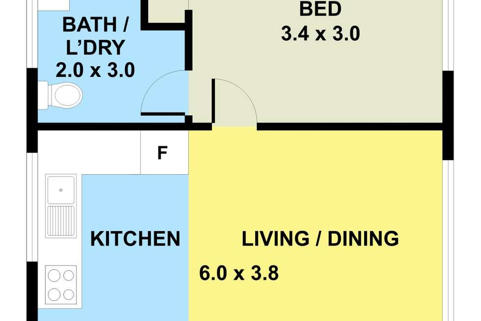 Floorplan of Homely apartment listing, 5/7 Dartford Street, Flemington VIC 3031