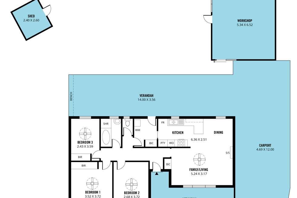 Floorplan of Homely house listing, 14 Lindsay Drive, Morphett Vale SA 5162