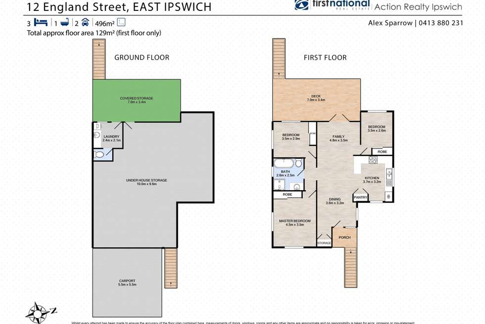 Floorplan of Homely house listing, 12 England Street, East Ipswich QLD 4305
