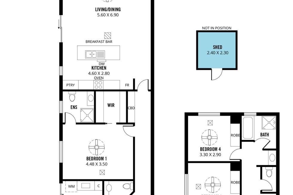 Floorplan of Homely house listing, 14 Gordon Terrace, Morphettville SA 5043