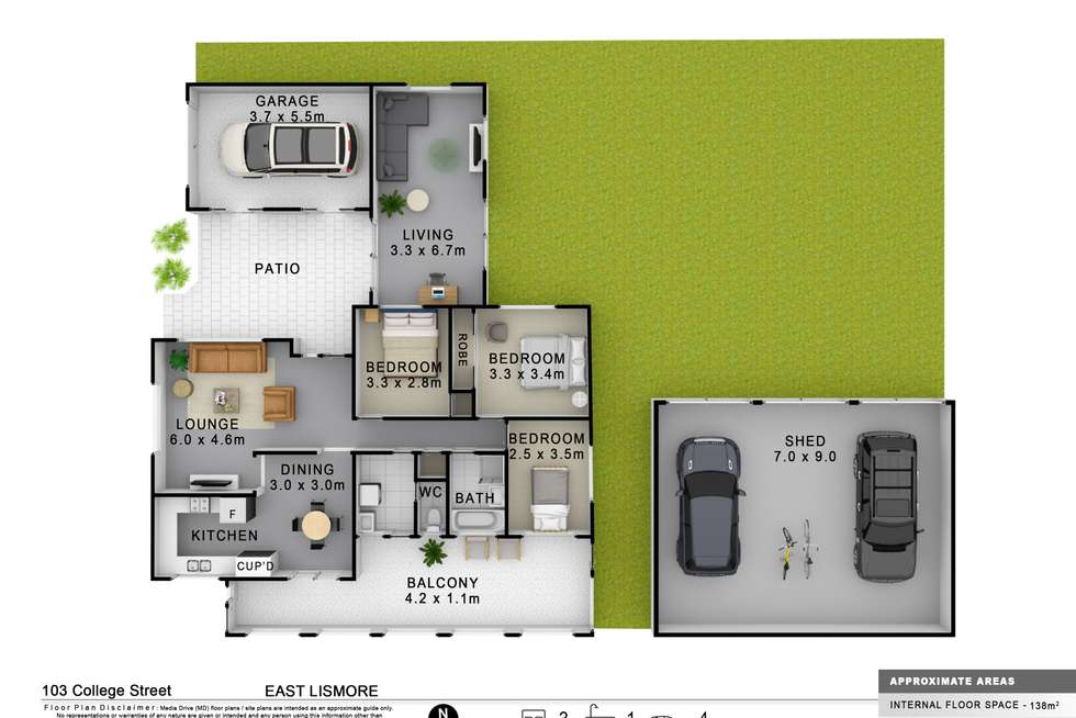 Floorplan of Homely house listing, 103 College Street, East Lismore NSW 2480