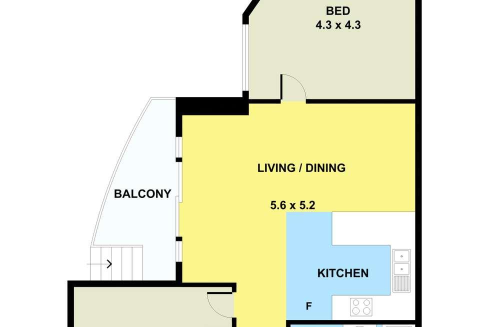Floorplan of Homely apartment listing, 4/36 Gladstone Street, Moonee Ponds VIC 3039