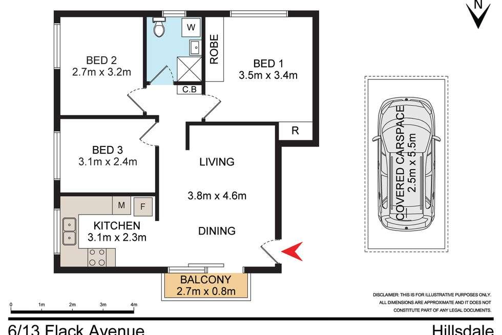 Floorplan of Homely unit listing, 6/13 Flack Avenue, Hillsdale NSW 2036