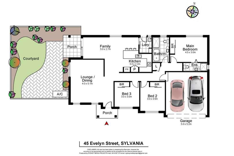 Floorplan of Homely house listing, 45 Evelyn Street, Sylvania NSW 2224