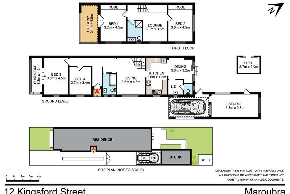 Floorplan of Homely house listing, 12 Kingsford Street, Maroubra NSW 2035