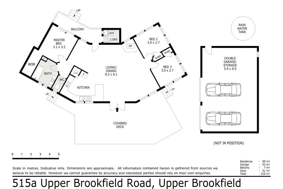 Floorplan of Homely house listing, 515A Upper Brookfield Road, Upper Brookfield QLD 4069