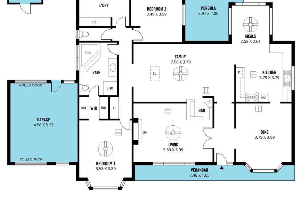Floorplan of Homely house listing, 41 Maidencombe  Drive, Moana SA 5169
