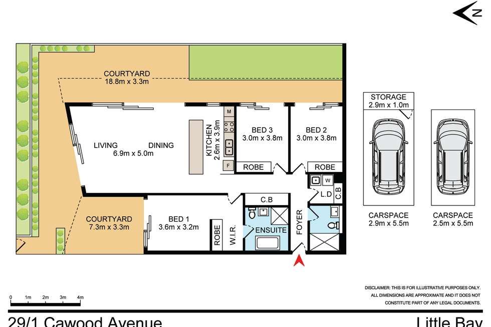 Floorplan of Homely unit listing, 29/1 Cawood Avenue, Little Bay NSW 2036