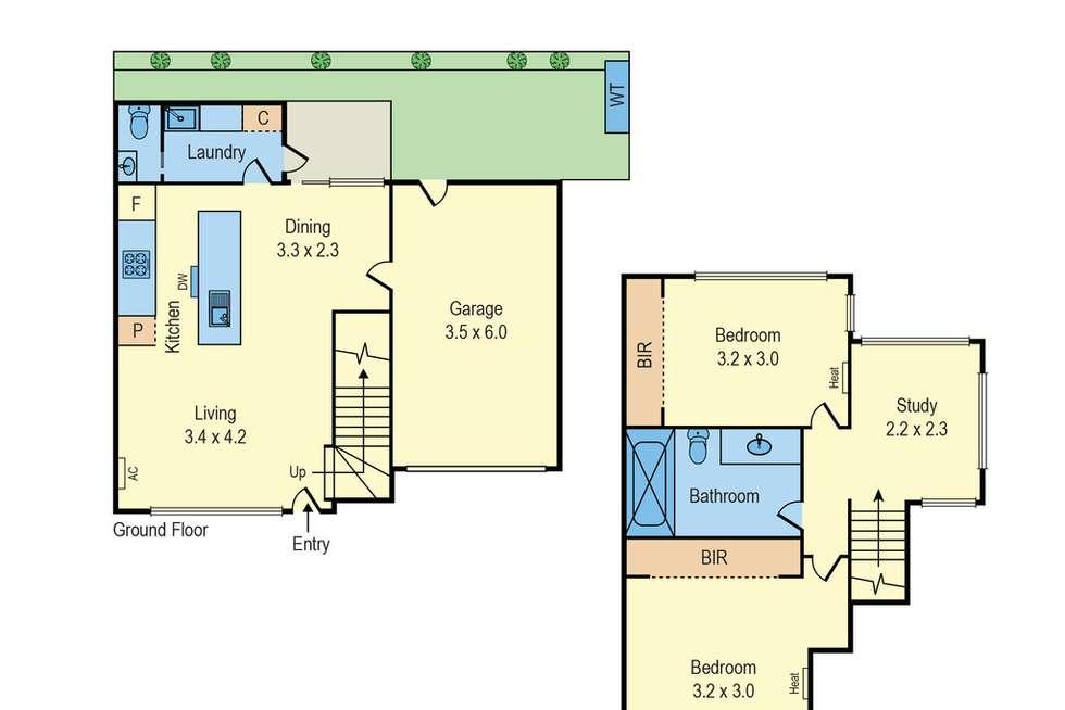 Floorplan of Homely unit listing, 2/93 Flinders Street, Mentone VIC 3194
