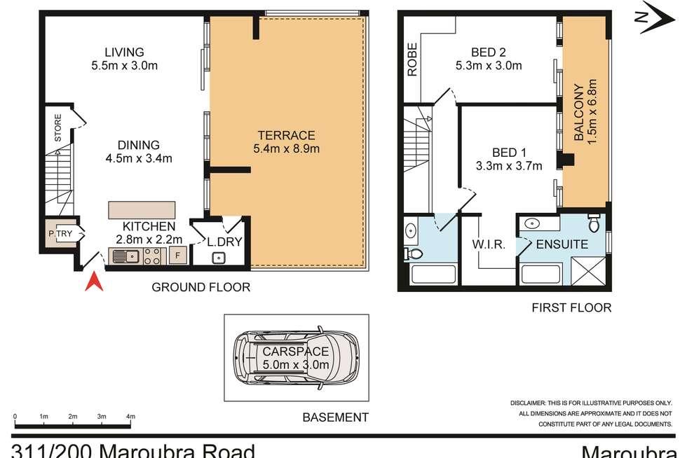 Floorplan of Homely unit listing, 311/200 Maroubra Road, Maroubra NSW 2035