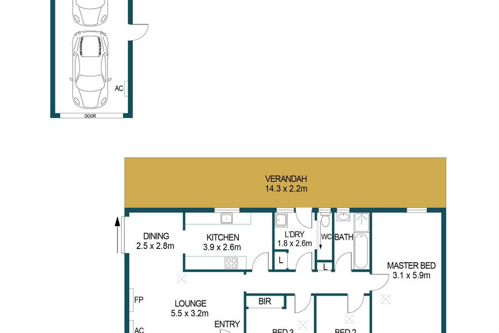 Floorplan of Homely house listing, 35 Woodcutts Road, Davoren Park SA 5113
