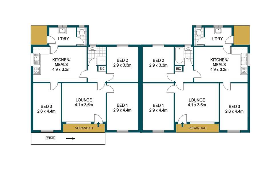 Floorplan of Homely house listing, 48 - 50 Mainwaring Crescent, Davoren Park SA 5113