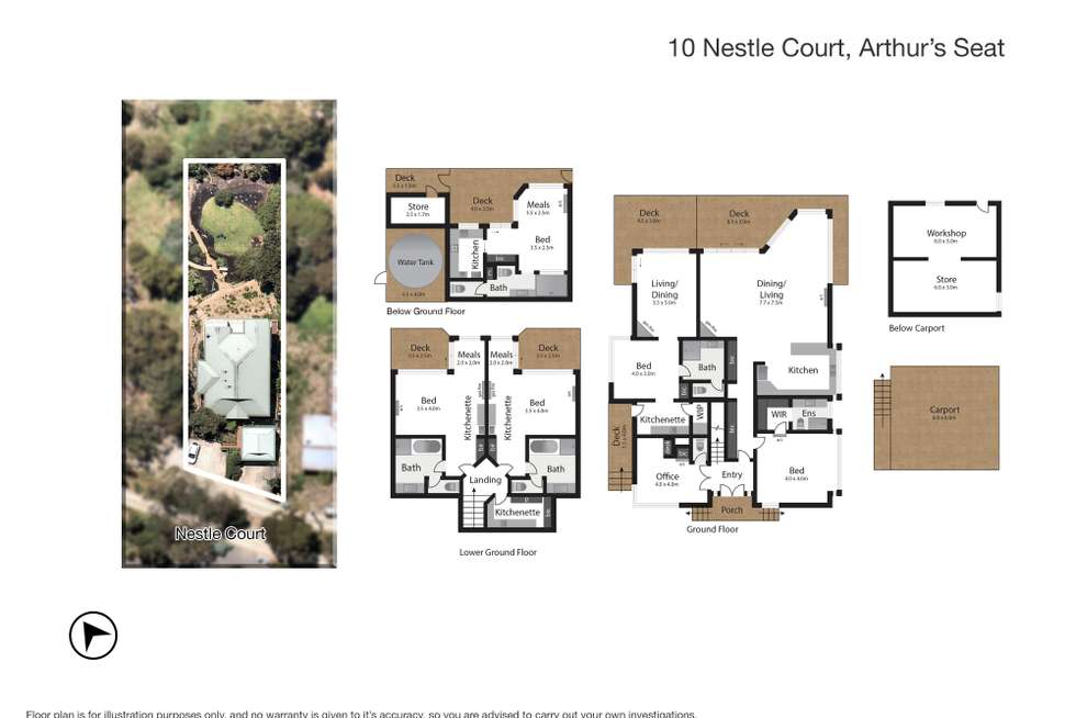 Floorplan of Homely house listing, 10 Nestle Crt, Arthurs Seat VIC 3936