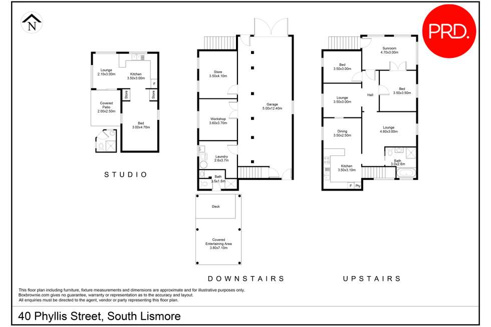 Floorplan of Homely house listing, 40 Phyllis Street, South Lismore NSW 2480