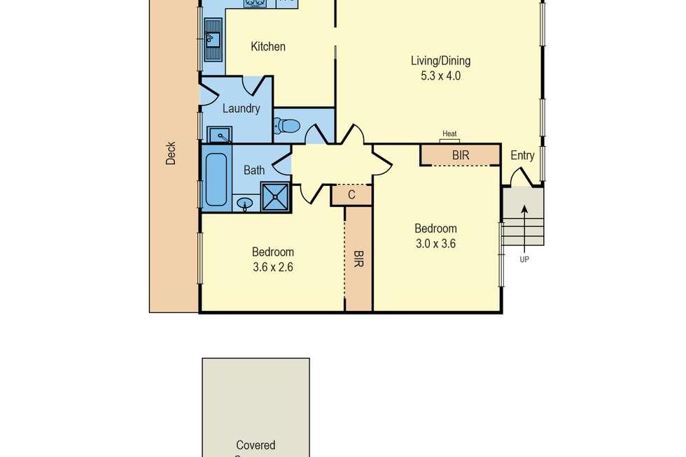 Floorplan of Homely unit listing, 5/11 Argus Street, Cheltenham VIC 3192