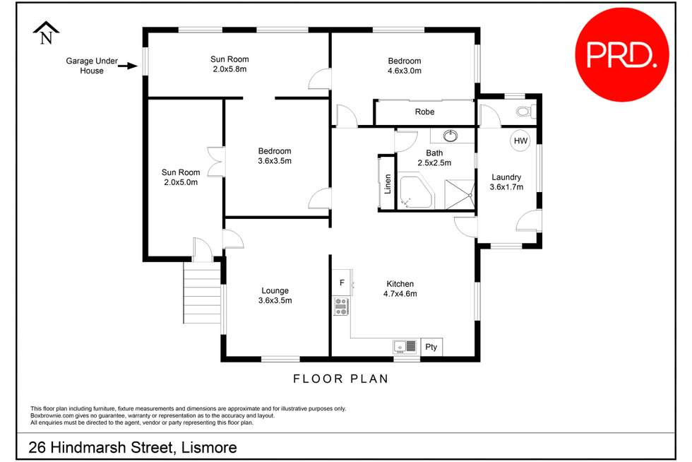 Floorplan of Homely house listing, 26 Hindmarsh Street, Lismore NSW 2480