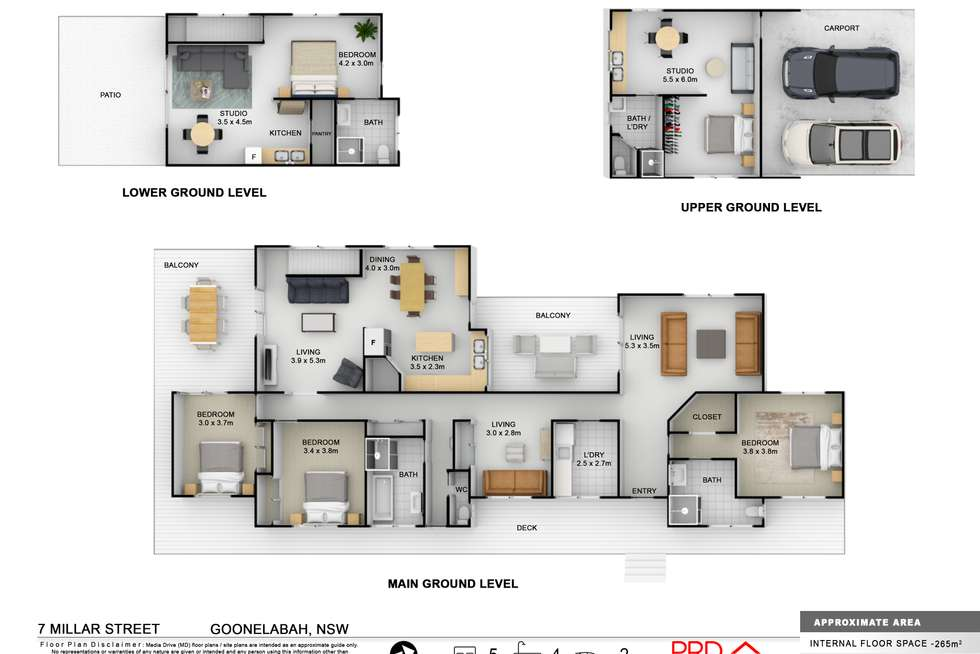 Floorplan of Homely house listing, 7 Millar Street, Goonellabah NSW 2480
