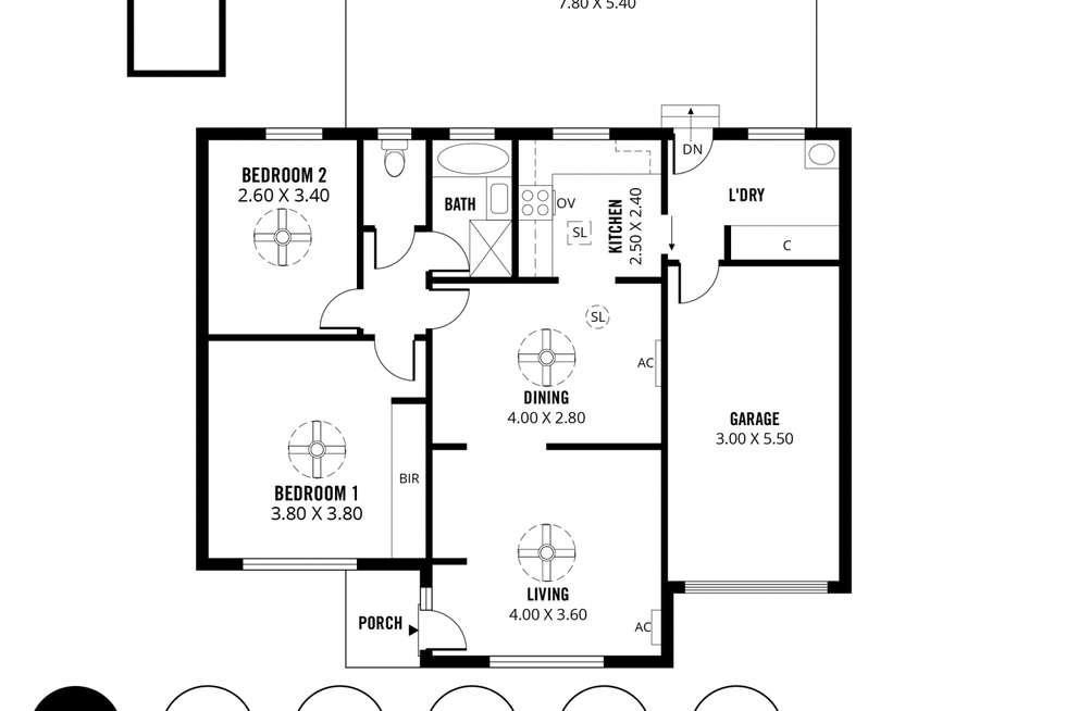 Floorplan of Homely unit listing, 13 Montebello Drive, Salisbury SA 5108