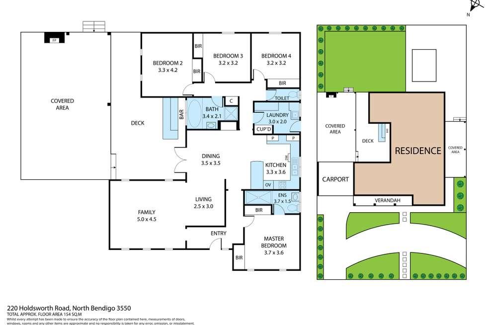 Floorplan of Homely house listing, 220 Holdsworth Road, North Bendigo VIC 3550